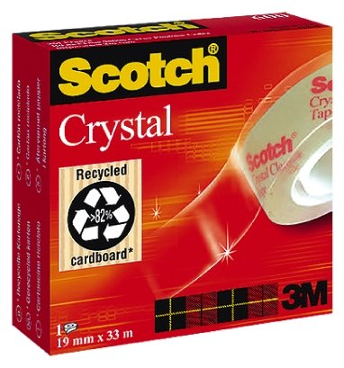Лепяща лента 3M Scotch Crystal Clear Tape 600