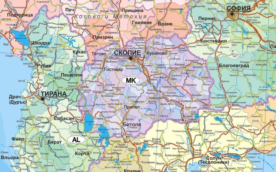 Balkanski Poluostrov Politicheska Karta