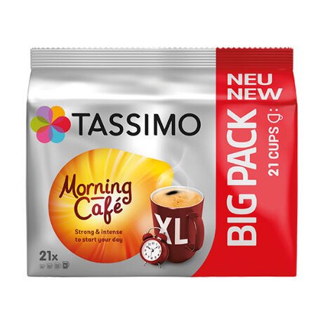 Кафе капсули Tassimo Morning Cafe XL, Strong, BIG PACK, 21 капсули